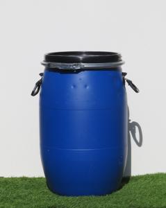 חבית פלסטיק 60 ליטר עם מכסה נפתח