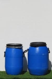 חביות למכירה,חביות פלסטיק כחולות